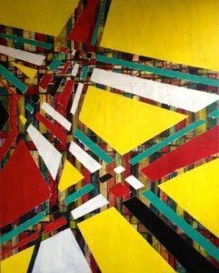 """GridWorks 2""  50"" x 40"" on Gallery-wrapped canvas, Mixed Media: Acrylic, Acrylic Ink"