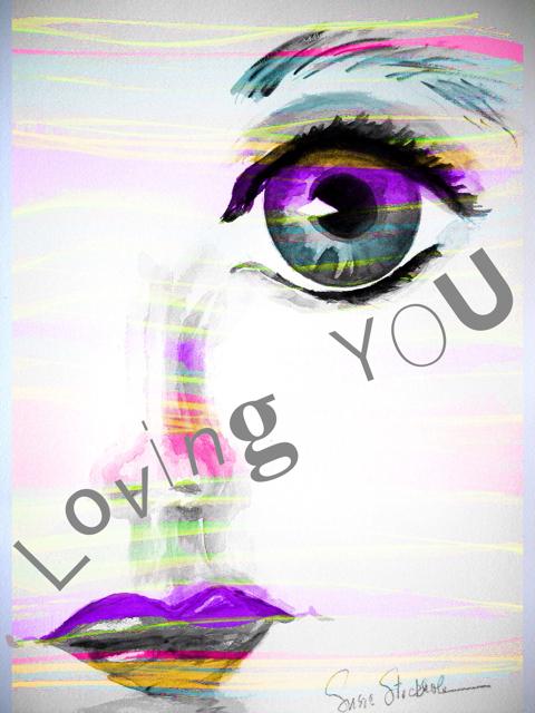 Loving You in Purple - original watercolor #flowpaper, #procreate