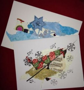 Collaged Holiday Cards