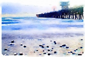 San Clemente Pier watercolor