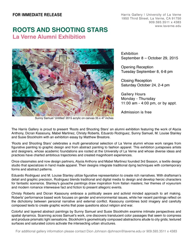 Roots & Shoots - U of LaVerne Alumni Show