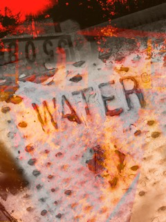 "First in my new ""Water Signs"" series of digital photo collages. 20 x 16"", on White Aluminum Composite"