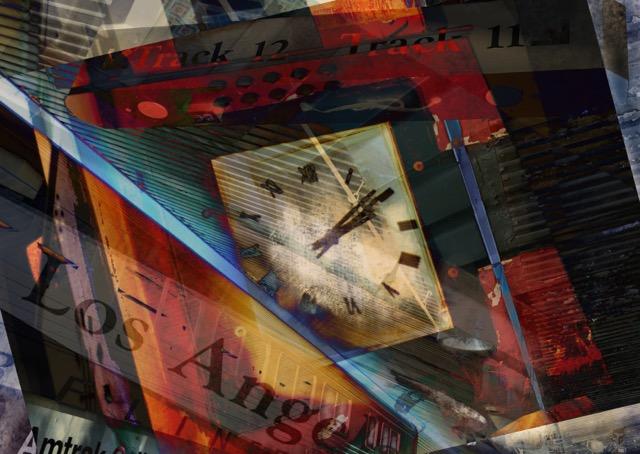 Photos shot at Union Station, collage, #procreate app, #momentapp