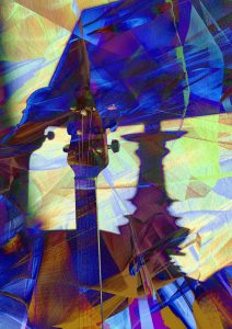 """Night Music Blues"" iPhoneography and iPad art printed on metal - any size, the larger the better!"