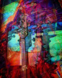 """Night Music Nostalgia"", photo collage, iPad Art, iPhoneography"