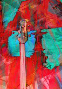 """""""Night Music Sunrise"""" - printed on brushed aluminum, photo collage 40 x 30"""""""